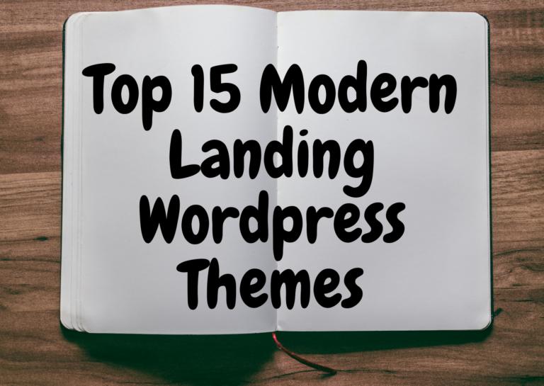 best modern landing wp theme