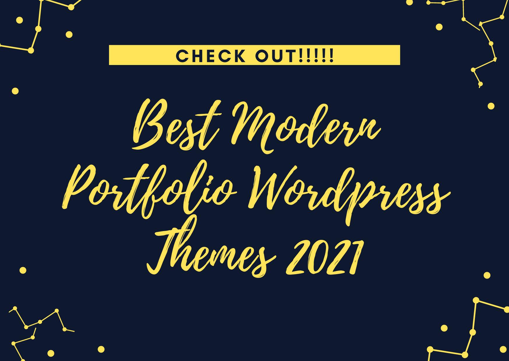 best modern portfolio wordpress theme