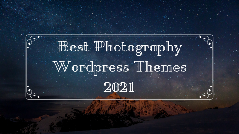 best photography wp theme